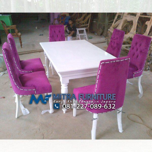 jual set meja makan 6 kursi