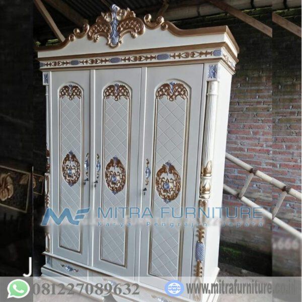 Harga-Lemari-Pakaian-Jati-Warna-Deco-Putih