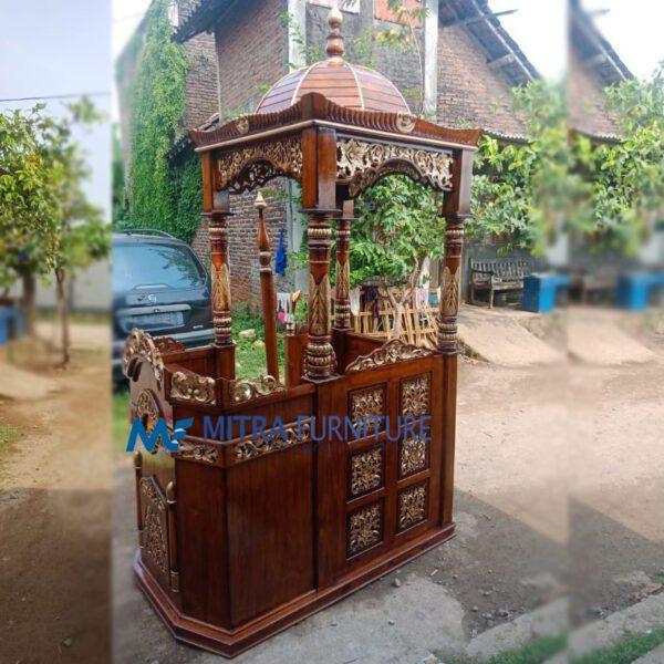 Jual Mimbar Masjid Jati Kubah 7