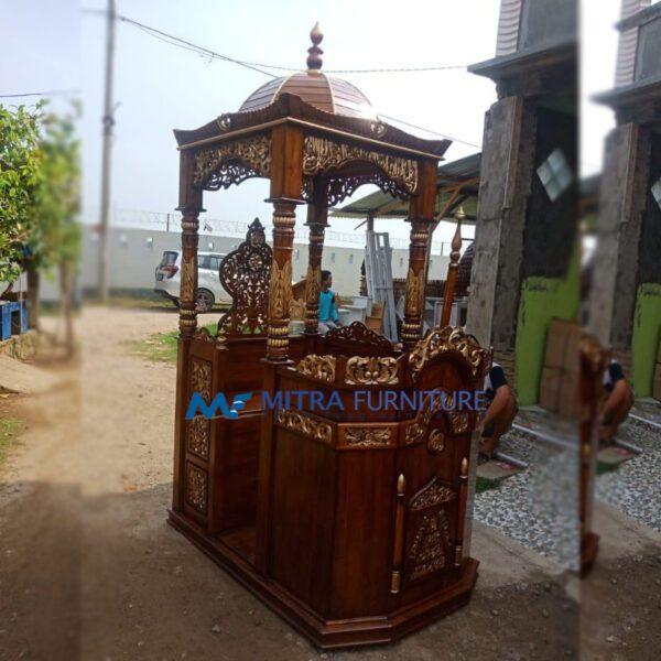 Jual Mimbar Masjid Jati Podium Jember