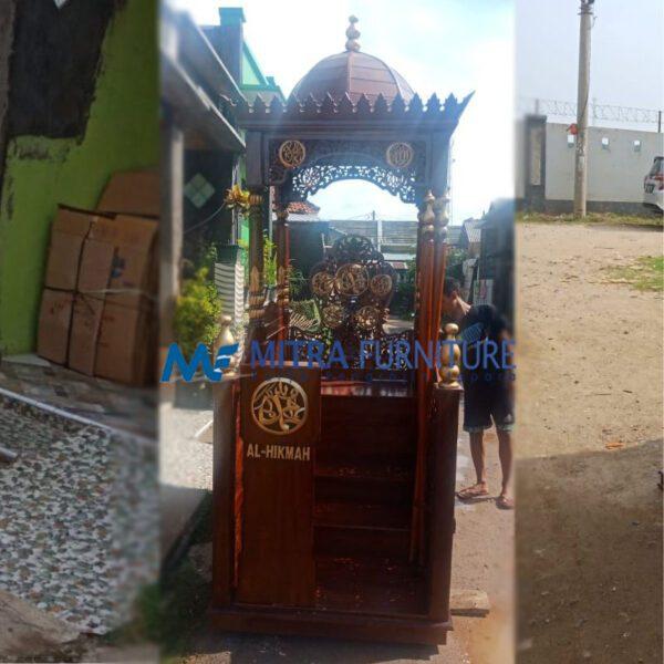 Jual Mimbar Masjid Jati Ukiran Jepara